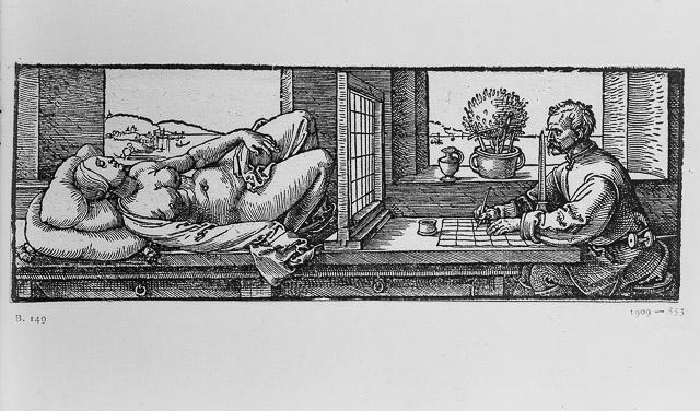 Albrecht Dürer: Der Zeichner der Perspektive (1512–1525). Foto: Hans Loos.