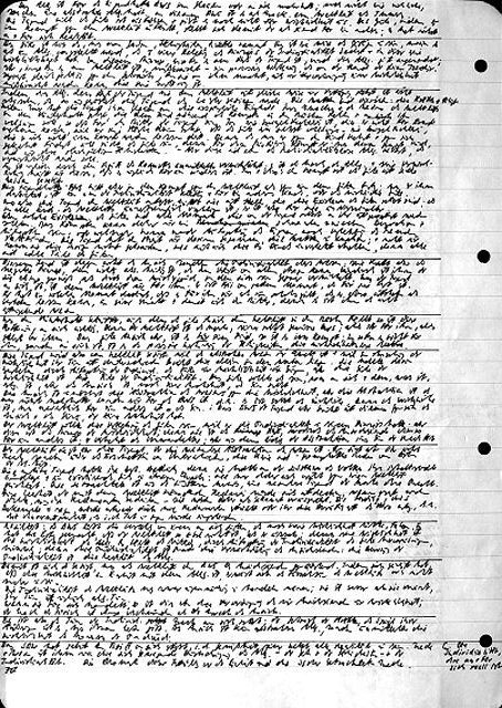 Peter Tepe: Handschriftliches Exzerpt des Studenten (1969–1972). Foto: Tanja Semlow.