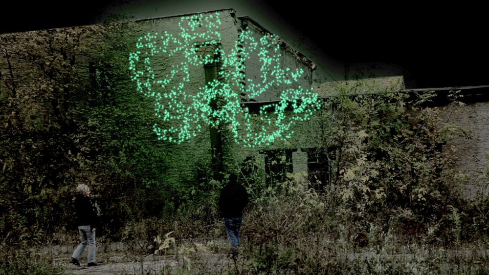 Ursula Damm: Screenprint of Sustainable Luminosity (2012). Photo: Ursula Damm.
