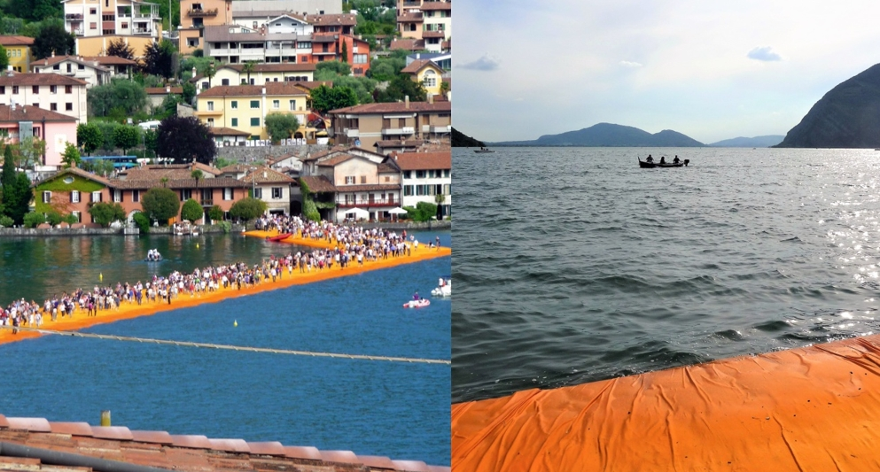Christo und Jeanne Claude: Floating Piers (2016). Fotos: Irene Daum.