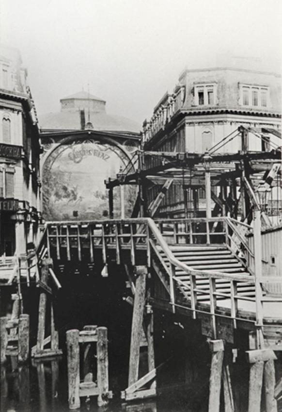 Markthallenzirkus unter Circus Renz: Fassade und Kuppel (um 1890). Foto: Stiftung Stadmuseum Berlin.