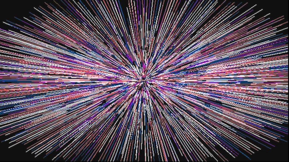 W. Franke: Screenshots aus dem interaktiven dynamischen PC-Programm Gramus (1980). Foto: space press.