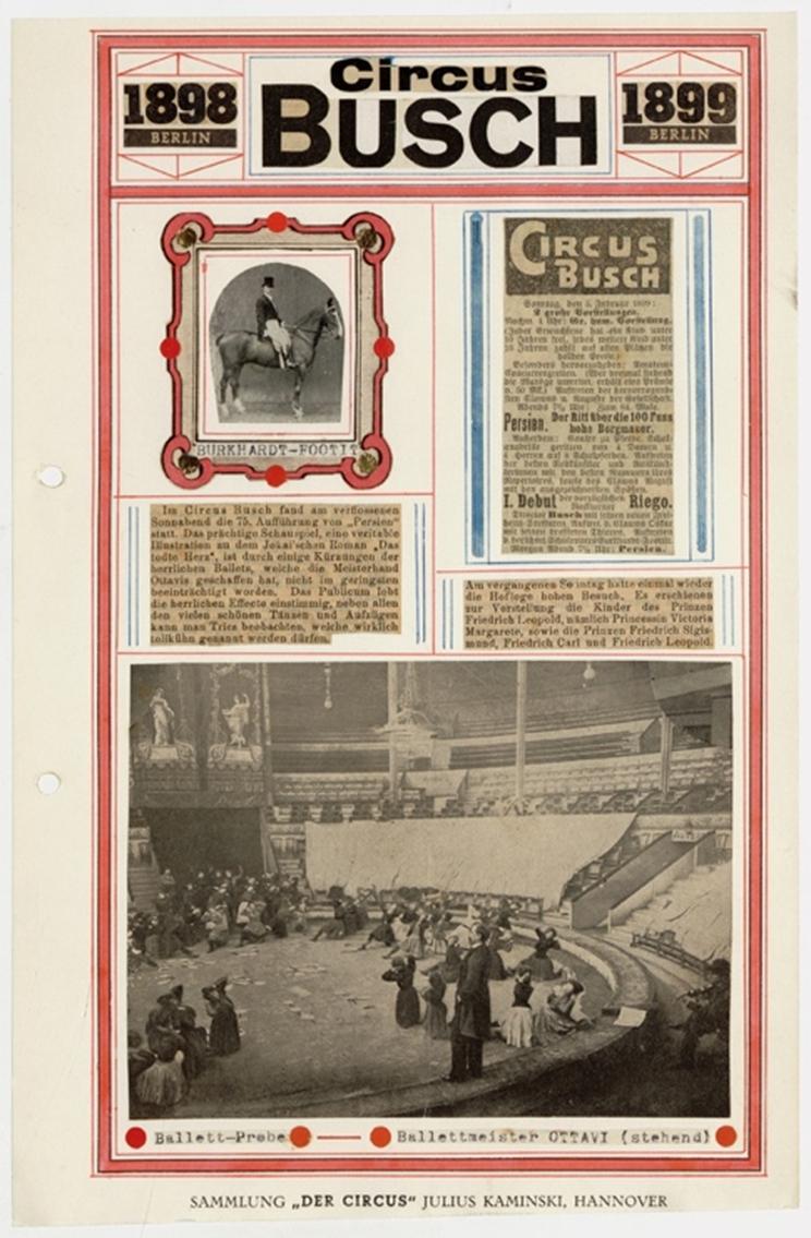 Ballettprobe im Gebäude des Circus Busch (um 1900). Foto: Stiftung Stadtmuseum Berlin.
